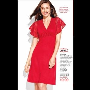 Red Avon Dress -2XL